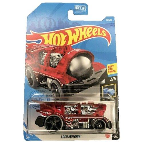Hot Wheels Базовая машинка Loco Motorin, красная mattel базовая машинка hot wheels tesla model 3