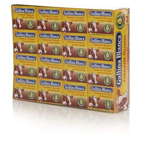 Фото - Gallina Blanca Бульонный кубик Говяжий бульон на косточке, 10 г, 48 порц. макароны gallina blanca 450 г спагетти