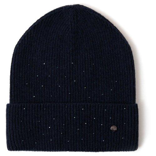 шапка женская finn flare цвет ярко синий a20 11148 111 размер 56 Шапка женская Finn Flare, цвет: темно-синий A20-11157_101, размер: 56