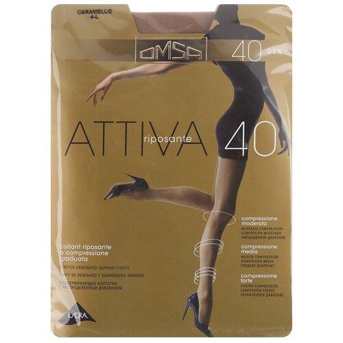 Колготки Omsa Attiva, 40 den, размер 2-S, caramello (бежевый) колготки omsa beauty slim 40 den размер 2 s caramello бежевый