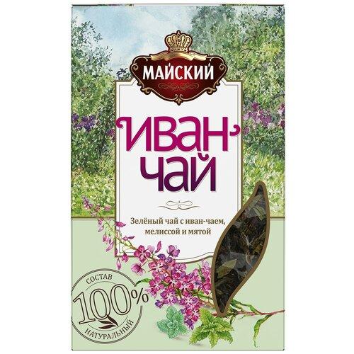 Чай зеленый Майский Иван-чай с мелиссой и мятой, 75 г