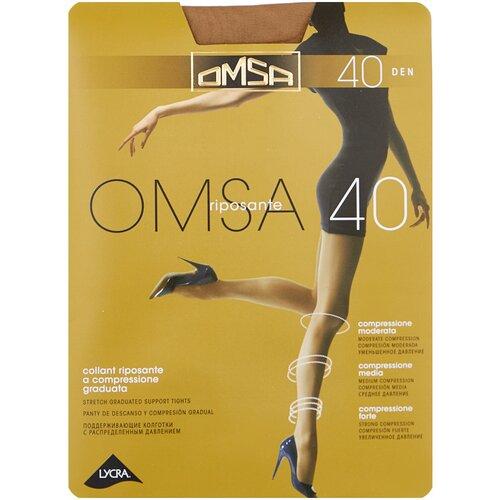 Колготки Omsa Omsa, 40 den, размер 2-S, caramello (бежевый) колготки omsa beauty slim 40 den размер 2 s caramello бежевый