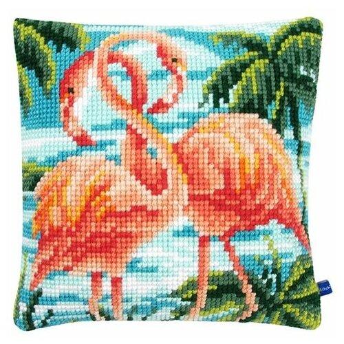 Купить Vervaco Набор для вышивания Фламинго 40 х 40 см (PN-0155019), Наборы для вышивания