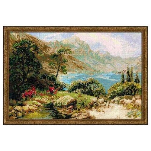Фото - Риолис Набор для вышивания крестом Горное озеро 60 x 40 (1397) риолис набор для вышивания крестом русская охота 60 x 40 1639