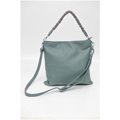363-52 Y9558-1k Сумка шоппер женская экокожа Ludor Зеленый