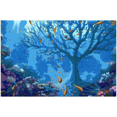Фото - Картина по номерам Подводное царство, 90 х 120 см подводное царство