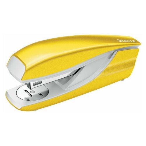 Купить Степлер №24/6, 26/6 металлический LEITZ New NeXXt WOW , до 30 л., желтый металлик, 55022016, 1 шт., Степлеры, скобы, антистеплеры