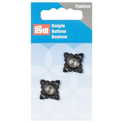 Фото - Prym Кнопки пришивные квадратные (341934, 341935), черный, 21 мм, 2 шт. prym кнопки пришивные квадратные 347125 белый 9 мм 15 шт