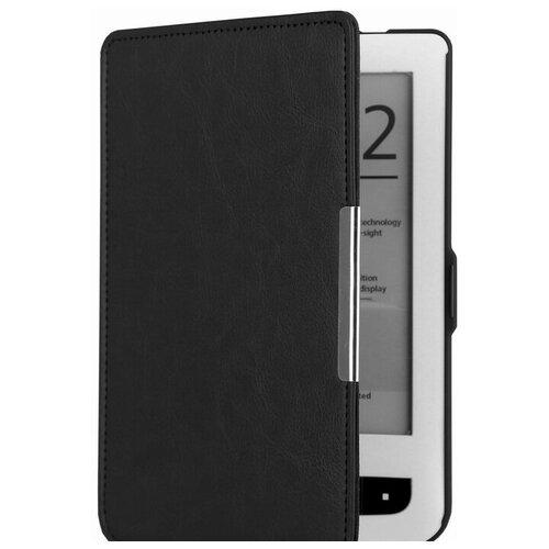 Чехол-обложка футляр MyPads для PocketBook 650 Limited Edition / PocketBook 650 Ultra из качественной эко-кожи тонкий с магнитной застежкой черный