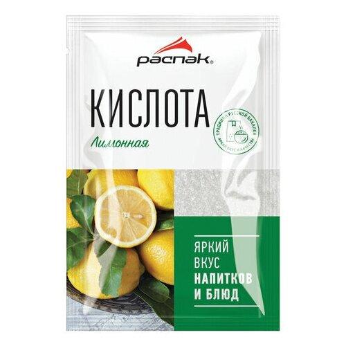 Лимонная кислота распак, 50 г, мягкий пакет, 40002, 6 шт.