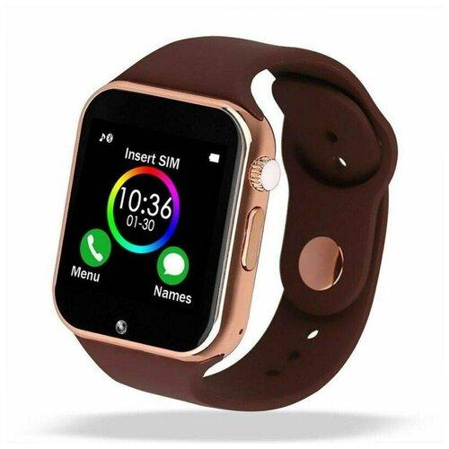 Смарт-часы Smart Watch A1 золотистые