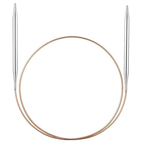 Купить Спицы, круговые, супергладкие, никель, №3, 75, 50 см, ADDI