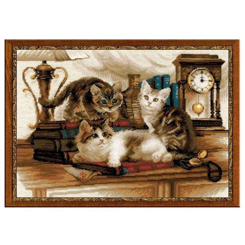 Фото - Риолис Набор для вышивания крестом Пушистые друзья 40 x 30 (1247) риолис набор для вышивания крестом русская охота 60 x 40 1639