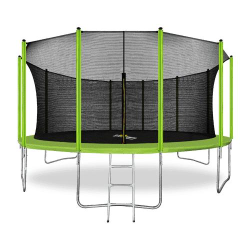 Фото - ARLAND Батут 16FT с внутренней страховочной сеткой и лестницей (Light green) каркасный батут arland премиум 16ft с внутренней страховочной сеткой и лестницей dark green