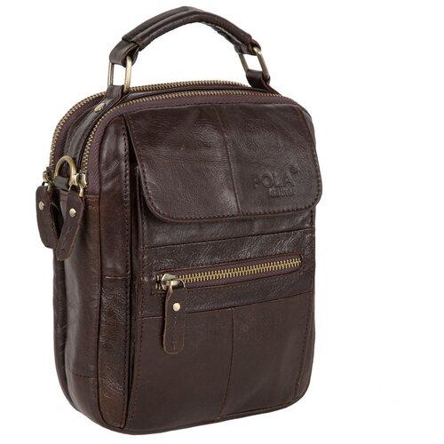 сумка polar д1412 Мужская сумка Polar, 5121 коричневая