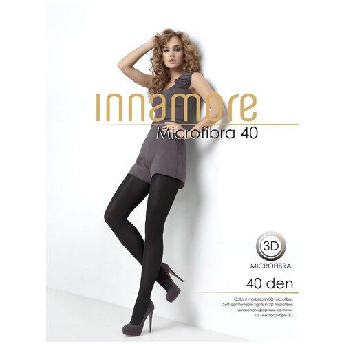 Фото - Колготки Innamore Microfibra, 40 den, размер 2-S, cappuccino (коричневый) колготки innamore microfibra 100 den размер 2 s moka коричневый