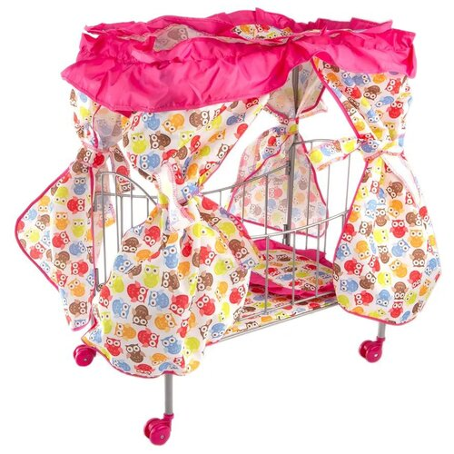 Buggy Boom Кроватка с балдахином Loona белый с разноцветными совами