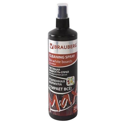 Фото - Чистящая жидкость-спрей для маркерных досок Brauberg Turbo Max 250ml 513028 чистящая жидкость спрей brauberg 513288