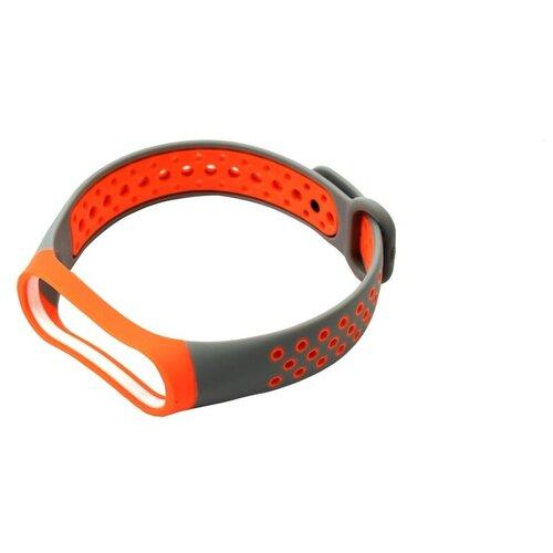 Aксессуар Ремешок Red Line для Xiaomi Mi Band 4 / Mi Band 3 Grey-Orange УТ000018234