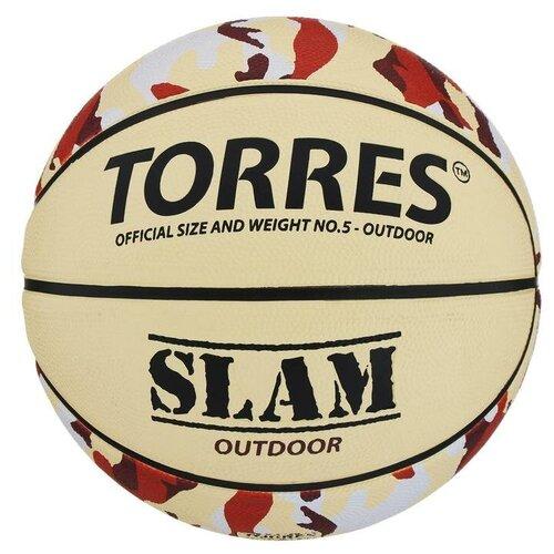 Мяч баскетбольный Torres Slam, B00065, размер 5 мяч баскетбольный torres slam b02065 р 5