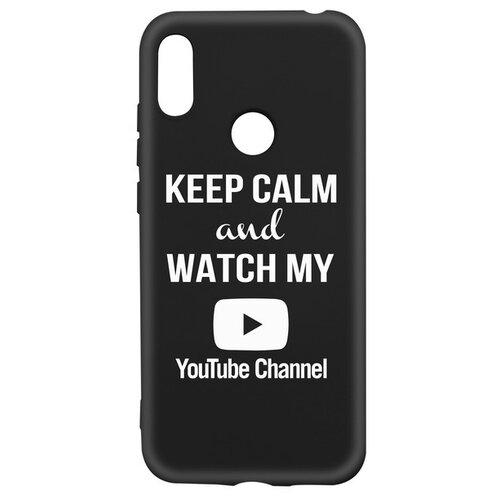 Фото - Чехол-накладка Krutoff Silicone Case YouTube для Huawei Y6 (2019)/ Y6s/ Honor 8A/ 8A Pro/ 8A Prime черный чехол для honor 8a 8a pro g case slim premium book черный