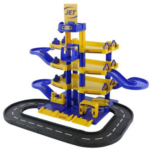 Купить Игрушка Паркинг Полесье Jet 4-уровневый с дорогой 40220, Детские парковки и гаражи