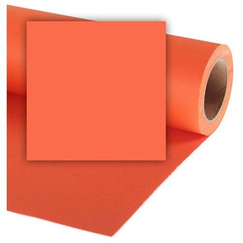 Фото - Фон Colorama PUMPKIN, бумажный, 2,72 x 11 м, оранжевый фон бумажный colorama ll co531 1 35x11 м maize