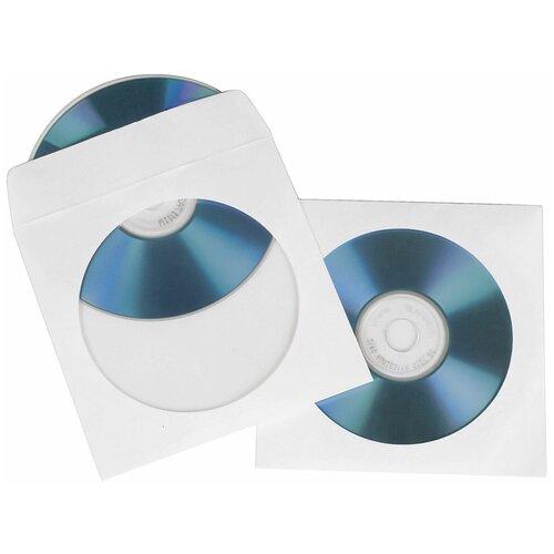 Конверты для CD/DVD Hama H-62671, White (50 шт)