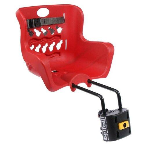Купить Велокресло переднее Pulcino B-Fix, цвет красный, Сима-ленд, Велокресла
