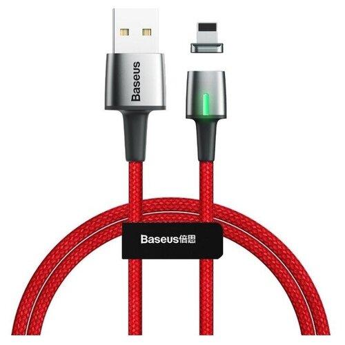 Кабель Baseus Zinc Magnetic Cable USB - Lightning (CALXC-A09) 1 м, 1 шт., красный, 1 м кабель baseus couple magnetic lightning usb calfd 1 м синий красный