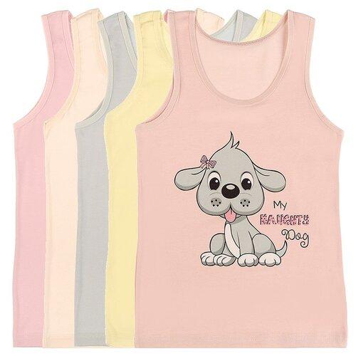 Купить Майка для девочек 4971ND, Цвет: Микс, Размер: 10/11, 5шт. в упаковке, Donella, Белье и купальники