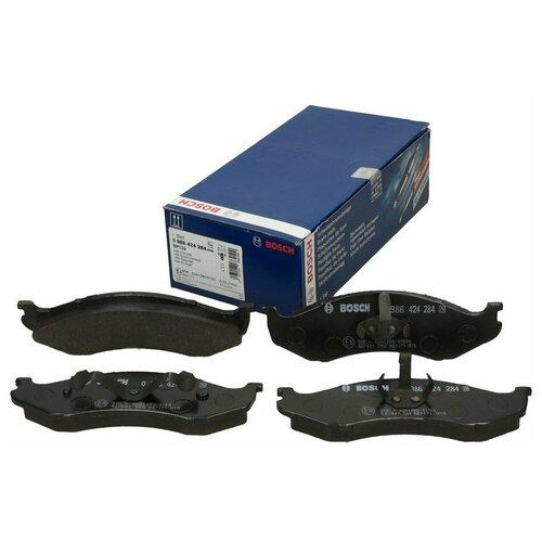 Дисковые тормозные колодки передние Bosch 0986424284 для Kia Carnival, Jeep Cherokee, Jeep Grand Cherokee, Jeep Wrangler (4 шт.)