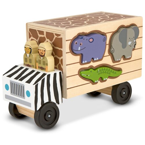 Купить Классические игрушки Сортировщик-грузовик Сафари Melissa Doug 5180, Melissa & Doug, Сортеры