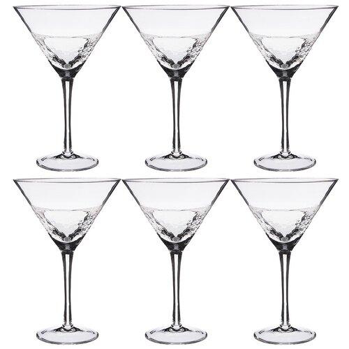 Набор бокалов для мартини Lefard из 6-ти шт. айсберг объем 350 мл высота 19см (693-012)