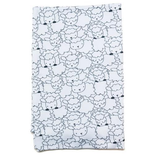 Пеленкино наволочка Барашки 40х60 см белый/черный, Постельное белье и комплекты  - купить со скидкой