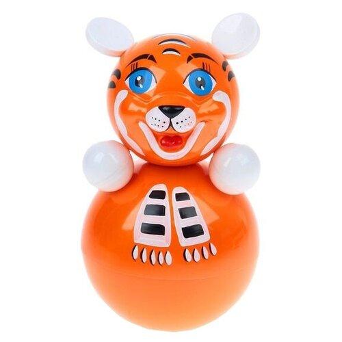 Неваляшка Котовские неваляшки Тигренок (6С-008) 22 см оранжевый
