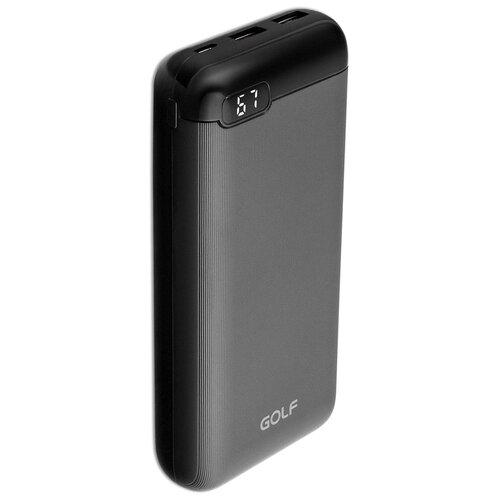 Внешний аккумулятор GOLF LCD22 20000 mAh 2*USB + Type-C с дисплеем черный