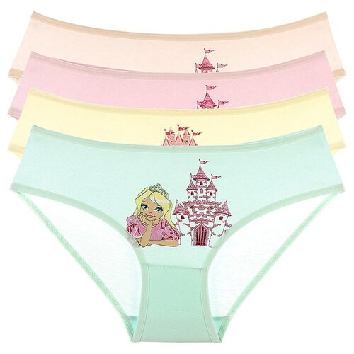 Купить Трусы для девочек 4171SU, Цвет: Микс, Размер: 2/3, 5шт. в упаковке, Donella, Белье и купальники