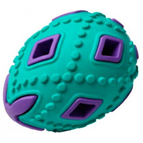 Игрушка для собак Homepet Silver Series яйцо каучук бирюзово-фиолетовое 6,2 х 6,2 х 8 см (1 шт)