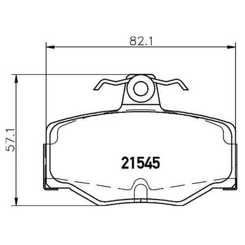 Комплект тормозных колодок Nisshinbo NP2050 для Nissan Almera II, Almera Tino, Primera