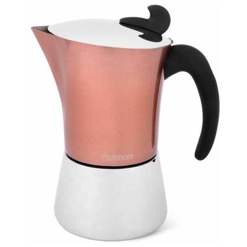 Фото - Гейзерная кофеварка Fissman 3317 (360 мл, 6 чашек), розовый/серебристый гейзерная кофеварка на 6 чашек 350 мл pensofal
