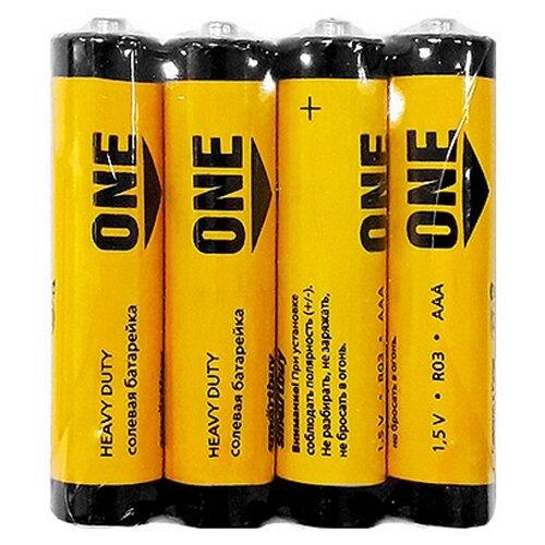 Фото - Батарейка SmartBuy One Eco AAA, 4 шт. батарейка smartbuy one eco alkaline aa 40 шт