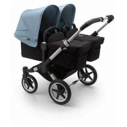 Купить Универсальная коляска для двойни Bugaboo Donkey 3 Twin (2 в 1), alu/black/vapor blue, цвет шасси: серебристый, Коляски