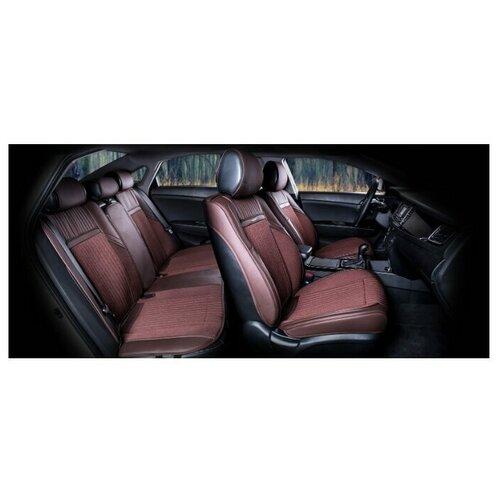 Комплект накидок на автомобильные сиденья CarFashion ARSENAL PLUS кофе/кофе