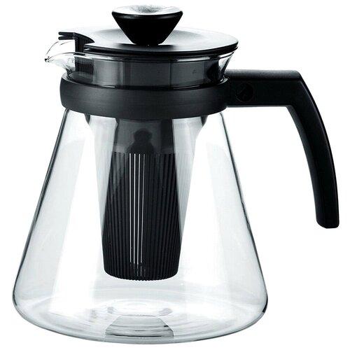 Tescoma Заварочный чайник Teo 646624 1,7 л, прозрачный/черный кувшин tescoma teo с крышкой с ситечком цвет прозрачный оранжевый 2 5 л