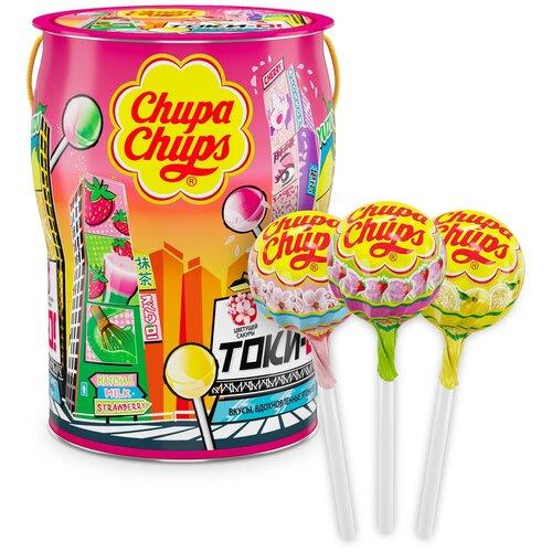 карамель chupa chups xxl flavors playlist ассорти 60 шт Карамель Chupa Chups Tok-Yo! ассорти, 12 г 150 шт.