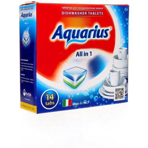 Фото - AQUARIUS All in 1 таблетки для посудомоечной машины, 14 шт. aquarius all in 1 таблетки для посудомоечной машины 150 шт
