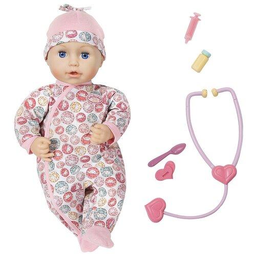Фото - Интерактивная кукла Zapf Creation Baby Annabell Милли чувствует себя лучше 43 см 701-294 бутылочка zapf creation baby annabell 700 976 розовый