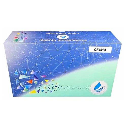 Фото - Картридж Aquamarine CF451A (совместимый с HP CF451A / HP 655A), цвет - голубой, на 10500 стр. печати тонер картридж hp laserjet 655a голубой cf451a