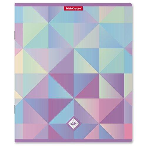 Тетрадь общая ученическая ErichKrause Magic Rhombs, 48 листов, клетка тетрадь общая ученическая в съемной пластиковой обложке erichkrause folderbook accent красный а5 48 листов клетка